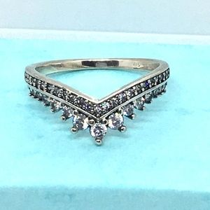 Size 6 Sterling Silver Cz Ring